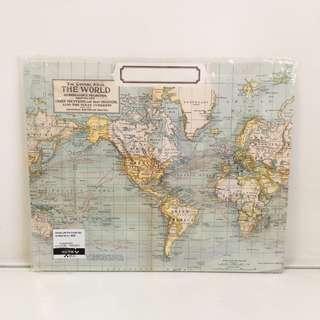 世界地圖紙質Folder x3 Cavallini File Folder/ World Map/ 3pcs