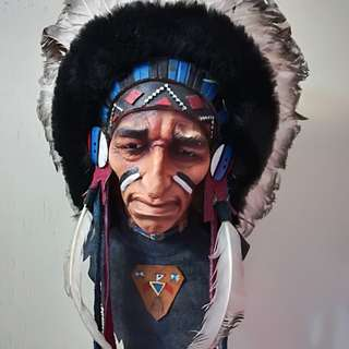 RED INDIAN FACE
