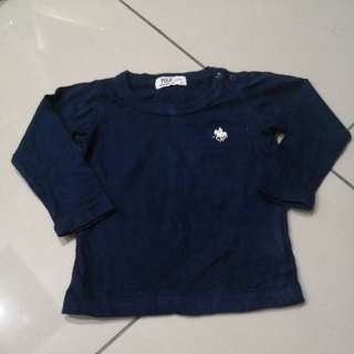 Polo Blue Black Shirt (6-12m)