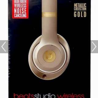 Brand New BeatsStudio Wireless, Metallic Gold Collection, Bluetooth