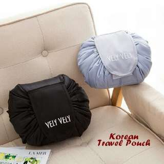 Korean Make Up Pouch Travel - Praktis Tanpa Ribet!