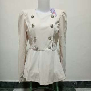 Cream Jacket (BARU&ADA TAG)