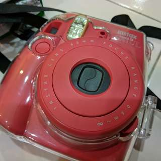 Fujifilm Instax Mini 8 Instant Camera (Raspberry) Free 10 Film + Casing