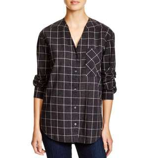 NWT Pure DKNY Button Up Cotton Top