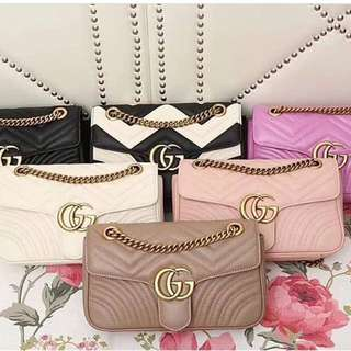 Gucci marmont bags multiple colours