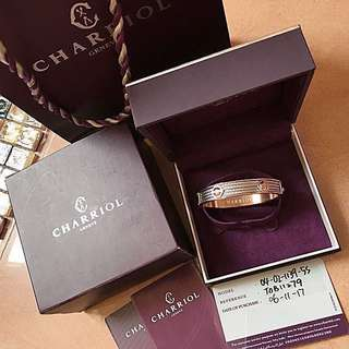 Swiss Charriol St tropez Rose Gold bracelet bangle arte carat bvlgari pandora lane crawford valentine's day cartier chanel 瑞士典雅玫瑰金鋼索手環 手鐲