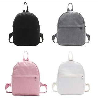 Corduroy casual back pack. PO