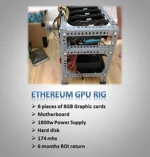 Ethereum GPU Mining machine