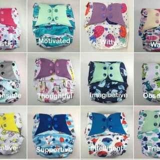 Booldeet POSH Cloth Diapers (fits newborn to toddler)