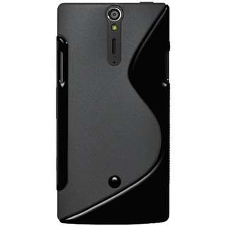 Amzer AMZ95152 Dual Tone TPU Hybrid Skin Fit Case Cover for Sony Xperia S LT26i - 1 Pack - Retail Packaging - Black