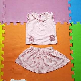 Hush hush skirt and blouse terno