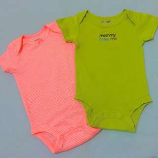 Carter's and Babies R Us Onesies Set 0-3 mos