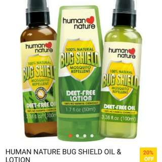 Human Nature Bugshield Oil and Lotion