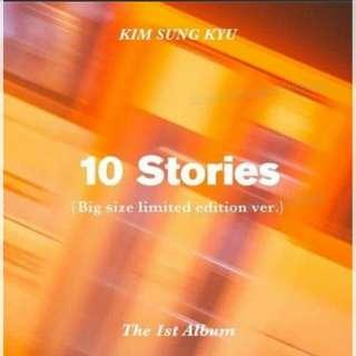 Limited Edition Kim Sung Kyu 1st Album 10 Stories
