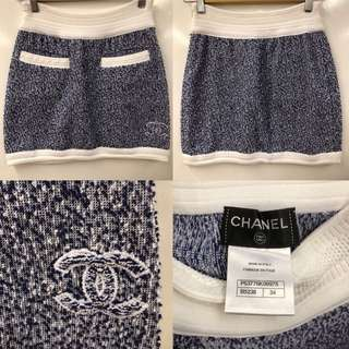 Chanel blue with white skirt size 34