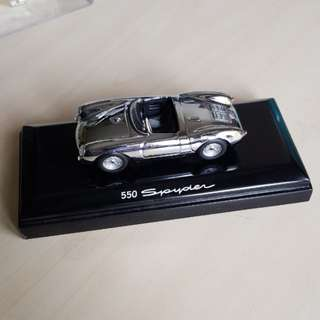 porsche 550 spyder 1/43 1:43 scale model miniature collectible diecast die-cast minichamps chrome boxster 718