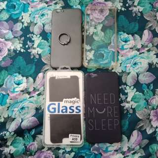 Oppo F1s Case / Tempered Glass