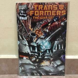 DW comic Transformers the war 6 march