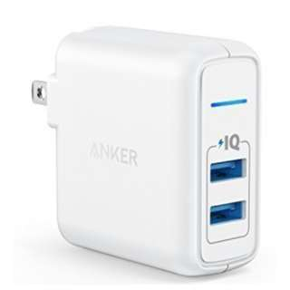 Anker Elite Dual Port 24W USB Travel Wall Charger (white)