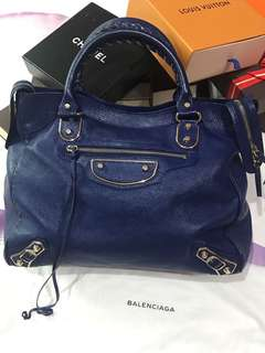 Balenciaga 2015 Royal Blue Velo + Metallic Edge