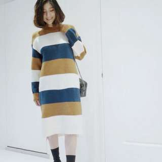 🚚 正韓長版針織毛衣