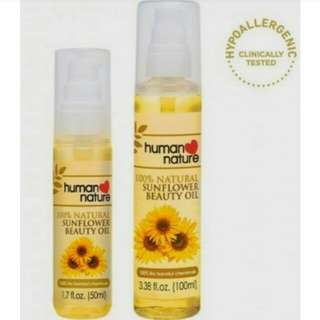Human Nature Sunflower Beauty Oil