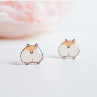 Cute Corgi butt Earrings