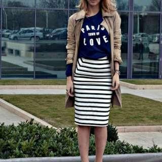 H&M pencil Skirt B&W