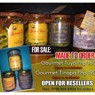 Gourmet Tuyo and Gourmet Tinapa For Sale