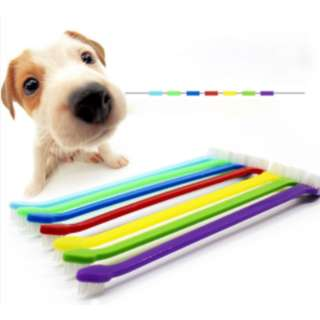 [ PET FOODIES ]  Pet Dual-End ToothBrush
