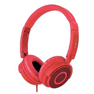 Vogek Lightweight and Foldable On Ear Headphones (red)