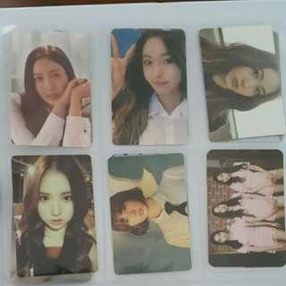 Twice WJSN Gfriend Photocard