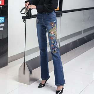 Embroidered Jeans 27-36