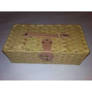 Rectangular Picnic Basket with Attached Lid