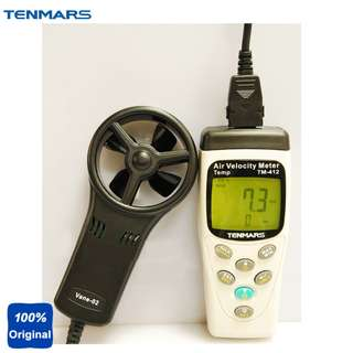 TENMARS Air Velocity Meter Airspeed Anemoscope Anemometer -20~50C