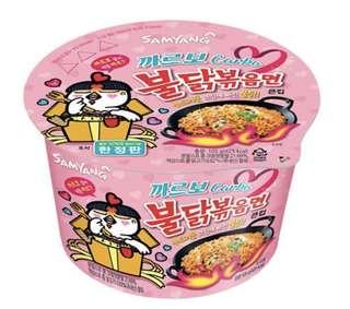 韓國卡邦尼辣雞杯麵