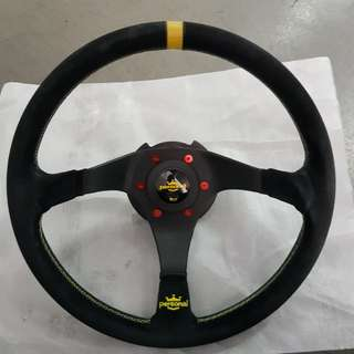 Nardi Personal Trophy + NRG Quick Release Gen 2.5 + Red Bolts