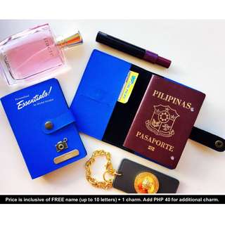 Personalised Passport Cover - Button