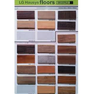 Lantai vinyl decotile 3mm banyak pilihan warna