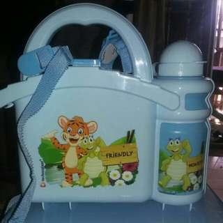 Lunch Box + Bottle  ( Lunch Box Model Koper )