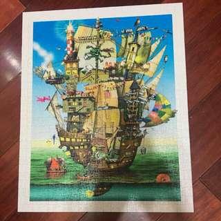 🚚 二手pintoo塑膠拼圖500片諾亞方舟