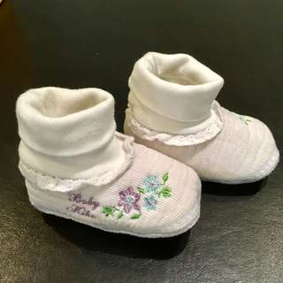 #15Off Baby Kiko White Floral Shoes