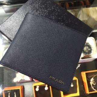 Prada 男裝銀包 man wallet saffiano