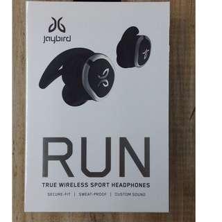 全新 原刲 行貨 Jaybird RUN Black Bluetooth earphone黑色無線藍牙耳機