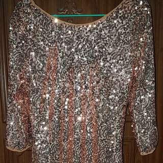 Sequins Gold Dress