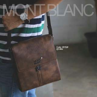 SLING BAG MONTBLANC Meisterstuck Leather City Bag  28152#p  Quality : Semi Premium Bag Size : 24x5x26cm Material Calfskin Leather 3 Colours :  - Black - Coffee - Khaki  Dlman 3 rangkap Bisa muat iPad dll Berat : 0,8 kg/pcs   H 230rb