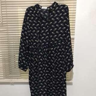 Floral Mini Dress Navy