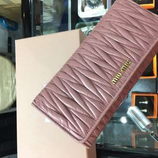 Miu miu women wallet 女裝長銀包