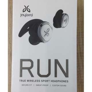 全新 原刲 行貨 Jaybird RUN Silver Bluetooth earphone銀色無線藍牙耳機