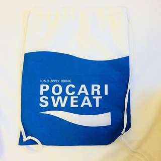 Pocari Sweat Drawstring Bag